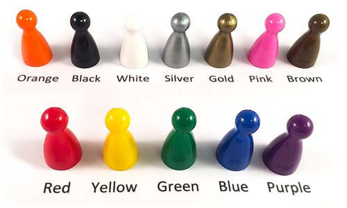 Plastics for Games Colored Plastic Boardgame Components